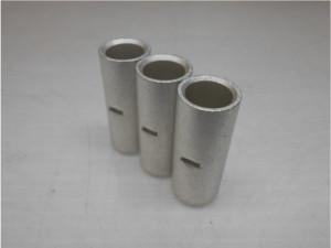 筒形 圧着端子部品のスズメッキ加工事例