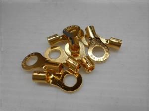 圧着端子部品の金メッキ加工事例